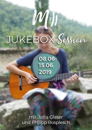 Gitarre spielen lernen in der Jukebox Session im Juni 2019