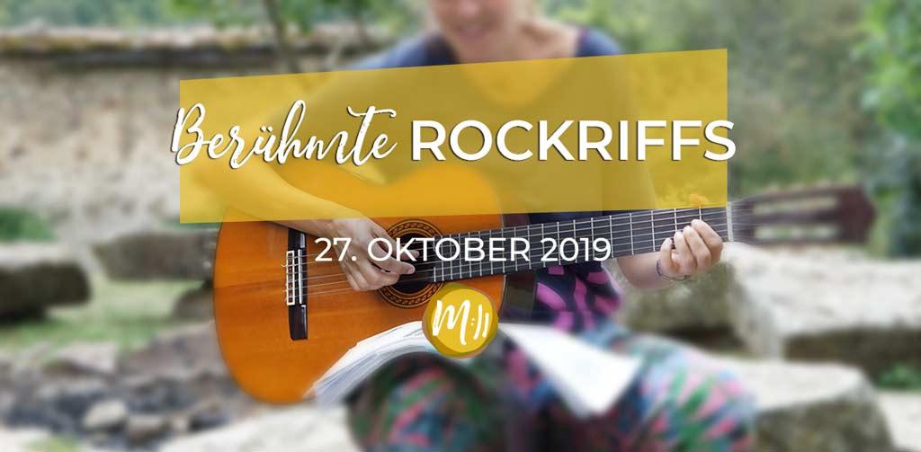 Berühmte Rock-Riffs auf der Gitarre [Gitarren-Workshop]